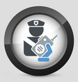 policeman radio vector image vector image