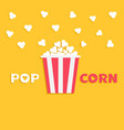 popcorn popping red yellow strip box package fast vector image vector image