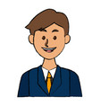 portrait of a businessman character on white vector image