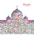 ramadan kareem orange ornamental arabic pattern vector image vector image