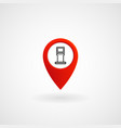 red location icon for oil station eps file vector image