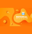 referal design promotion gradient shapes vector image vector image