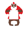 Santa bear keep clean banner with space for text vector image vector image