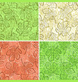 seamless backgrounds fig leaves vector image vector image