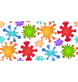 seamless children pattern with colorful splash of vector image