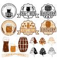 set of grunge beer emblems vector image vector image