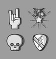set rock festival concert event vector image vector image