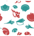 Shell seamless patter 4 vector image vector image