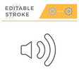 speaker editable stroke line icon vector image