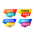 special offer tag collection set of banner vector image