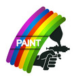 spray for painting in hand vector image