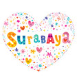 surabaya city in indonesia vector image vector image