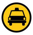 symbol taxi front car icon vector image vector image