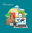 tour agency poster banner flat vector image