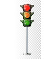 traffic lights - toy isolated on white background vector image vector image