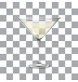 transparent glass with martini and olive vector image vector image