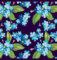 trendy floral pattern in the many kind of flowers vector image vector image