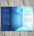 trifold polygonal shapes brochure design vector image vector image