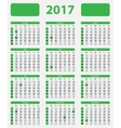 USA calendar 2017 with official holidays vector image