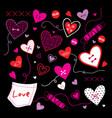 valentine i love you sweetheart cute cartoon vector image