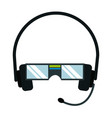 vr glasses headset microphone technology vector image