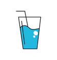 water glass to freshness and healthylife vector image vector image