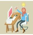 woman female graphic designer creative idea on vector image vector image