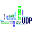 word cloud udp vector image vector image