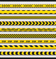 yellow and black barricade construction tape on vector image