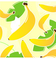 yellow banana vector pattern vector image vector image