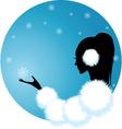 snow lady vector image
