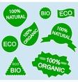 organic bio eco natural stickers vector image
