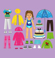 paper doll clothes set part 2 vector image