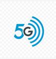 5g internet network logo icon vector image vector image