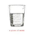 a glass water vector image vector image