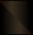 abstract gold diagonal line pattern on black vector image