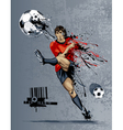 abstract image soccer player vector image vector image