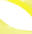 Abstract light yellow wave background vector image vector image