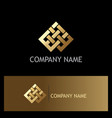 abstract ribbon connect geometry gold logo vector image vector image
