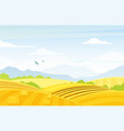 autumn rural landscape with fields vector image