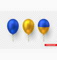 balloons in traditional color ukrainian flag vector image vector image