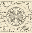 banner with sign compass wind rose in retro vector image vector image