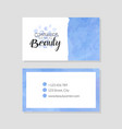 beauty natural cosmetics business card template vector image vector image