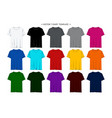 blank mens t-shirt collection set vector image