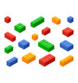 block toy brick building icon isometric vector image