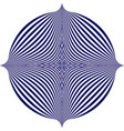 blue pattern creates an optical vector image vector image