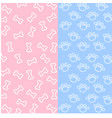 bone and spoor of dog wallpaper on pink and blue b vector image
