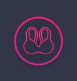 bra underwear icon vector image