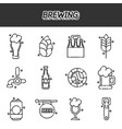 Brewing cartoon icons set vector image