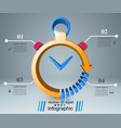 business infographics clock watch icon vector image vector image